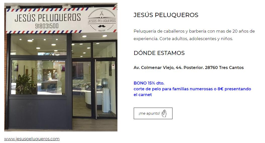 regala navidad tres cantos jesus peluqueros